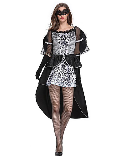 51373dce0e00 Witch Dress Cosplay Costume Adults' Women's Dresses Halloween Halloween  Carnival Masquerade Festival / Holiday Tulle Cotton Black Carnival Costumes  ...