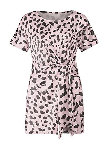 d757a68f01 Damskie Wyrafinowany styl Elegancja Pochwa Sukienka - Panterka Nad kolano