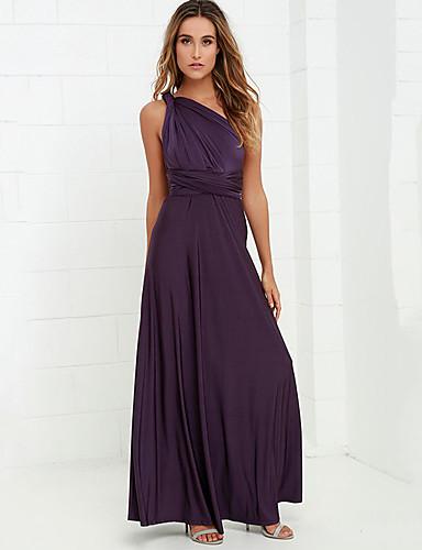 preiswerte Abendkleider-A-Linie V-Wire Ausschnitt Boden-Länge Stretch - Satin Kleid mit Überkreuzte Rüschen durch LAN TING Express