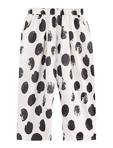 abordables Pantalons Femme-Femme Basique Ample Pantalon - Points Polka Beige L XL
