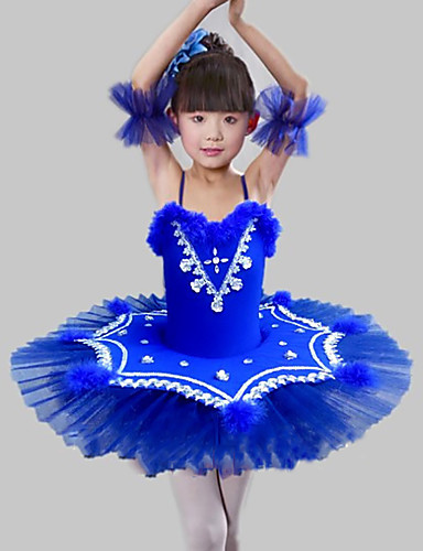 d8bb891b9 Kids' Dancewear / Ballet Dresses Girls' Training / Performance Polyester /  Mesh Feathers / Fur / Split Joint / Crystals / Rhinestones Sleeveless Dress