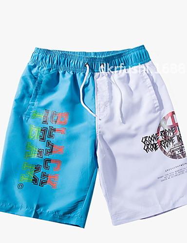 voordelige Herenondergoed & Zwemkleding-Heren Marineblauw Licht Blauw Zwembroek Slips, shorts en broeken Zwemkleding - Kleurenblok XXXXL XXXXXL XXXXXXL Marineblauw
