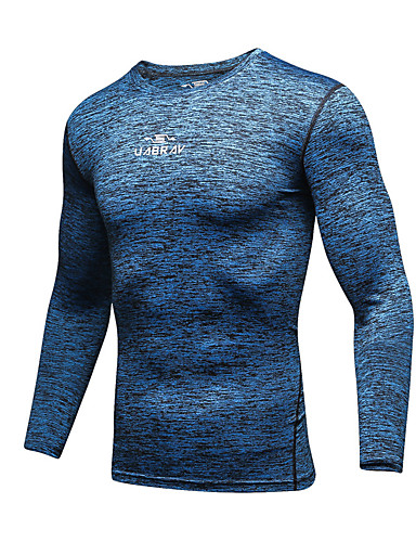 cheap Cycling Clothing-Men's Compression Shirt Long Sleeve Compression Base layer T Shirt Top Breathable Quick Dry Sweat-wicking Comfortable Dark Grey Rose Red Mineral Green Winter Road Bike Mountain Bike MTB Basketball