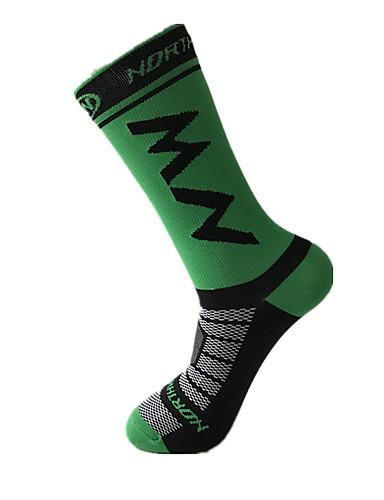 cheap Cycling Clothing-Men's Cycling Socks Compression Socks Windproof Breathable Quick Dry Green / Yellow Black / Yellow Dark Green Winter Road Bike Mountain Bike MTB Basketball Stretchy / Road Bike Cycling