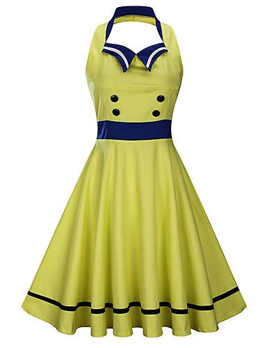 Women's Swing Dress White Black Navy Blue XL XXL XXXL