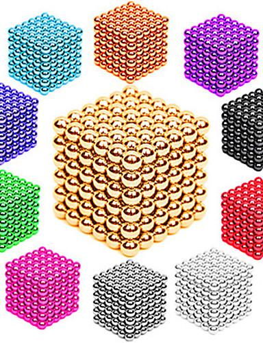 ราคาถูก Toys & Hobbies-216/512 pcs 3mm / 5mm Magnetiske leker ลูกบอลแม่เหล็ก Building Blocks ซูเปอร์แข็งแกร่งหายากของโลกแม่เหล็ก Neodymium Magnet Neodymium Magnet ความเครียดและความวิตกกังวลบรรเทา ของเล่นโต๊ะทำงาน DIY