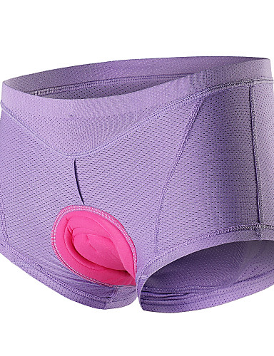 cheap Cycling Clothing-Arsuxeo Women's Cycling Under Shorts Bike Underwear Shorts Padded Shorts / Chamois Bottoms Breathable 3D Pad Sweat-wicking Sports Solid Color Elastane Silicon Winter Black / Purple / Pink Mountain