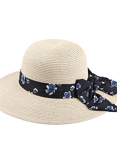 23e45de56ae8e Women s Party Active Cute Straw Chiffon Floppy Hat Straw Hat Ivy Cap-Solid  Colored Spring Summer Camel Navy Blue Khaki