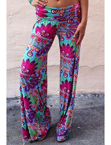 abordables Pantalons Femme-Femme Basique Mince Chino Pantalon - Imprimé Arc-en-ciel M L XL