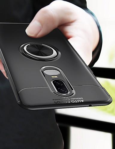 Etui Käyttötarkoitus OnePlus OnePlus 6 / One Plus 6T Iskunkestävä / Pinnoitus / Sormuksen pidike Takakuori Yhtenäinen Pehmeä TPU
