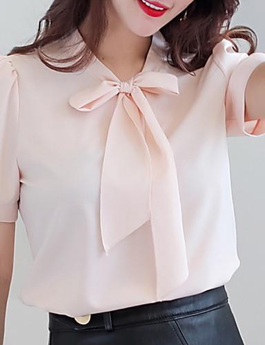 9849e853bd abordables Camisas y Camisetas para Mujer-Mujer Blusa Un Color Blanco L · Mujer  Blusa Un Color Blanco L