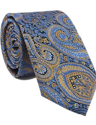 cheap Men's Ties & Bow Ties-Men's Party / Work / Basic Necktie - Print / Paisley / Jacquard