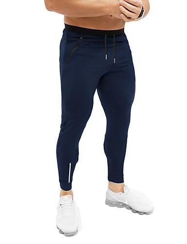 cheap Men's Pants & Shorts-Men's Sporty / Basic Chinos / Sweatpants Pants - Solid Colored Dark Gray