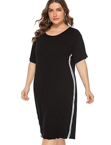 eba39ab6bad2 Γυναικεία Κομψό Πλεκτά Φόρεμα - Μονόχρωμο Ριγέ Πάνω από το Γόνατο