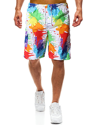 cheap Wetsuits, Diving Suits & Rash Guard Shirts-Men's Swim Shorts Elastane Bottoms UV Sun Protection Quick Dry Swimming Surfing Painting Summer