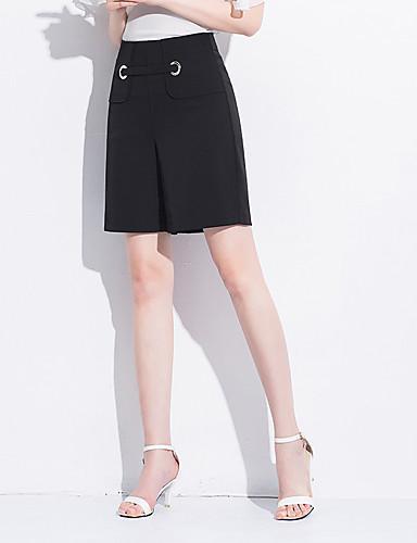 Luminosa Per Donna Essenziale A Zampa Pantaloni - Tinta Unita Nero #07324682