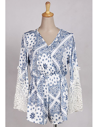 Bello Per Donna Boho - Sofisticato Blu Tute, A Pois Collage - Con Stampe M L Xl #07332288