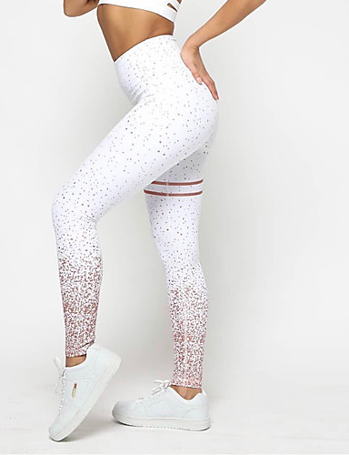 c5092e2904130 Women's Yoga Pants Sports Spot Tights Running Fitness Activewear Moisture  Wicking Stretchy Skinny