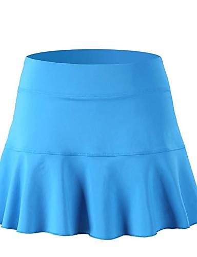 abordables Jupes-Femme Actif Mini Trapèze Jupes - Couleur Pleine Tricot / Mosaïque Rose Claire Bleu Marine Bleu Roi M L XL