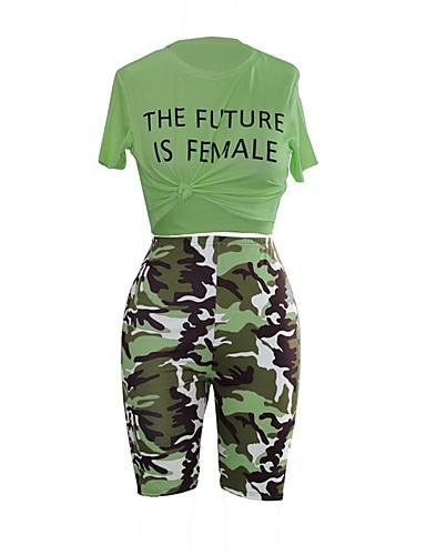 abordables Hauts pour Femmes-Marine foncé / Jonquille / Vert Couleur Pleine Coupe Standard Polyester Costume - Col Mao Sans bouton / costumes