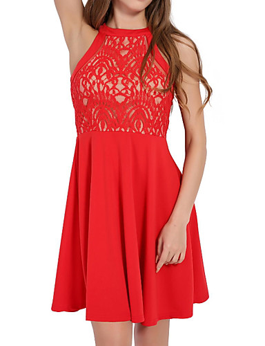 1959c289e0 cheap Romantic Lace Dresses-Women  039 s Basic Chiffon Dress - Solid Colored