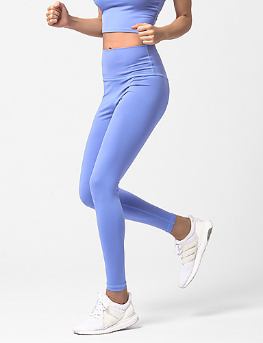 ad07efdfd6b62 Women's Yoga Pants Sports Solid Color High Rise Tights Running Fitness Gym  Workout Activewear Quick Dry Sweat-wicking Butt Lift Tummy Control High ...