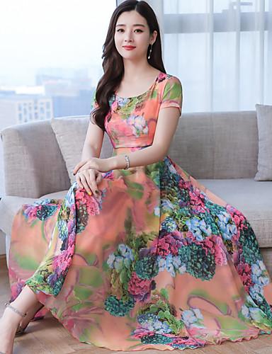 15f5117e872f Χαμηλού Κόστους Γυναικεία Φορέματα-Γυναικεία Μπόχο Κομψό Swing Φόρεμα Στάμπα  Μίντι