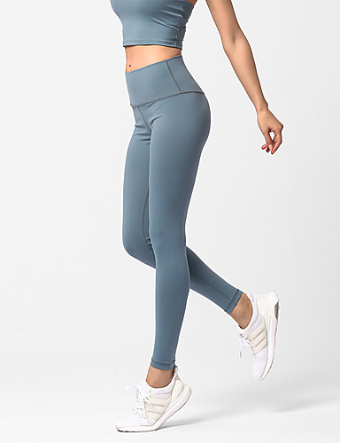 a0bfbfa1c2 Women's Yoga Pants Sports Solid Color High Rise Tights Running Fitness  Activewear Quick Dry Sweat-wicking Butt Lift Tummy Control High Elasticity  Skinny