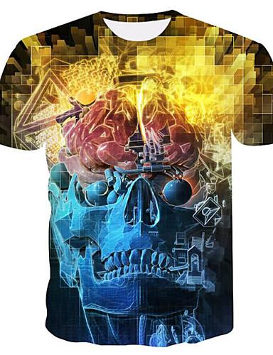 01de22c5a4f6 Ανδρικά T-shirt 3D   Νεκροκεφαλές Στάμπα Κίτρινο XXL