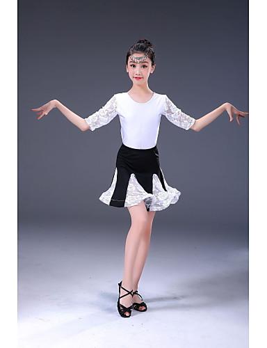 f9876054e3eb Latin Dance / Kids' Dancewear Outfits Girls' Performance Milk Fiber Ruching  Half Sleeve High Skirts / Leotard / Onesie