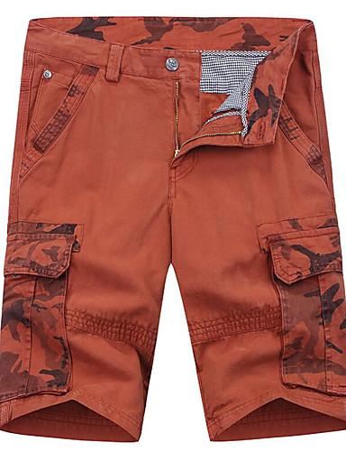 billige Herrebukser og -shorts-Herre Grunnleggende Tynn Shorts Bukser - Galakse Bomull Oransje Militærgrønn Kakifarget 34 36 38