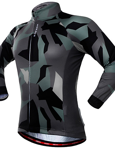cheap Cycling Clothing-WOSAWE Men's Women's Long Sleeve Cycling Jersey Camouflage Camo / Camouflage Bike Jersey Top Quick Dry Sports Polyester Spandex Mountain Bike MTB Road Bike Cycling Clothing Apparel / Stretchy