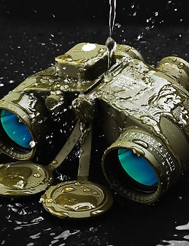 olcso Sport & túra-Boshile 10 X 50 mm Távcsövek Távmérő Objektívek Vízálló Iránytű Tető Prism Popuni multi-premaz BAK4 Kempingezés és túrázás Vadászat Utazás Night vision Fém / IPX-7