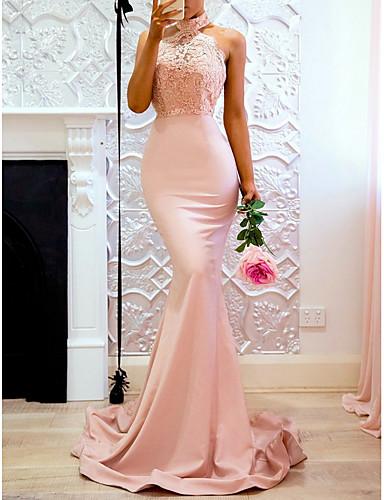 tanie Seksowne sukienki-Damskie Elegancja Pochwa Sukienka - Solidne kolory Midi