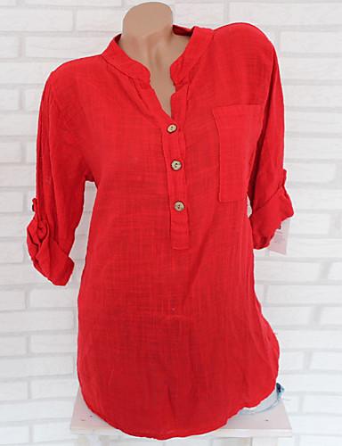 povoljno Majica-Majica Žene - Osnovni Dnevni Nosite Jednobojni Širok kroj Red