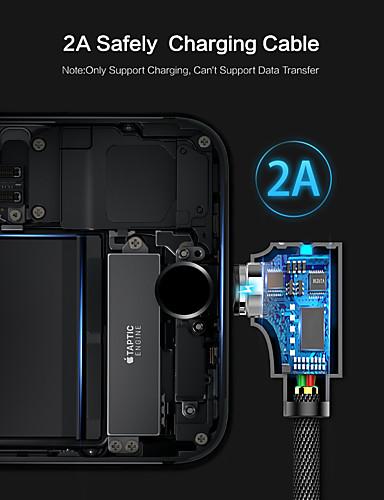 1m / 6.5ft עבור כבל כבל מגנטי. כבל USB קלועה עם מחוון LED עבור iPhone / ipad