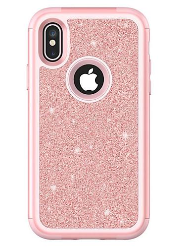 מארז ל iPhone XS מקס / iPhone 8 בתוספת נצנוץ ברק / מגן אבק dustproof נצנוץ tpu קשה / עור pu עבור iPhone se / 5s / iPhone 6 / iPhone 6 פלוס / iPhone 7 / iPhone x / iPhone xr
