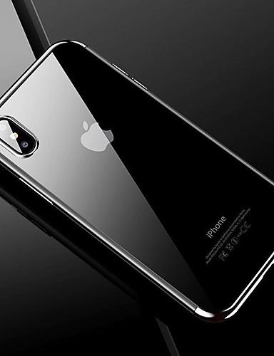 מגן עבור Apple iPhone X אולטרה דק כיסוי אחורי אחיד קשיח TPU