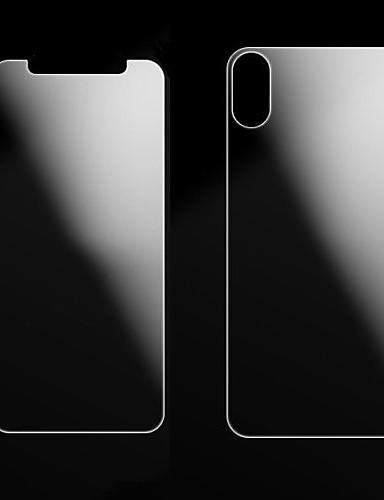 AppleScreen ProtectoriPhone X עמיד לשריטות מגן מסך אחורי וקדמי 2 pcs זכוכית מחוסמת