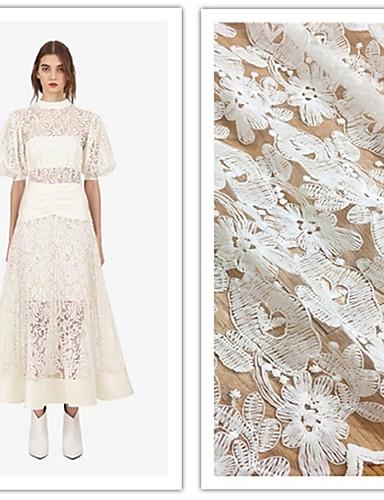 halpa Wedding Dress Fabric-Pitsi Yhtenäinen Pattern 125-130 cm leveys kangas varten Morsius myyty mukaan Jaardi