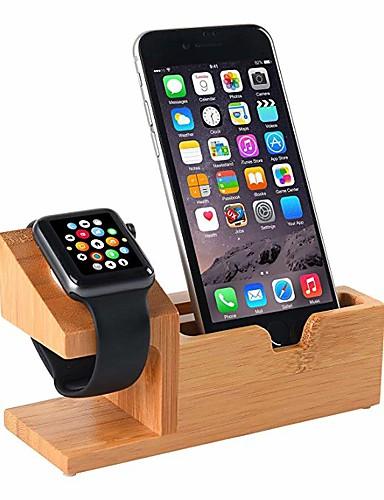 תואם לעמוד שעון אפל USB טעינה לעמוד לעמוד לעמוד עם 3 טעינה USB יציאת עץ במבוק טעינה תחנת עגינה עבור 38mm ו 42mm Apple לצפות