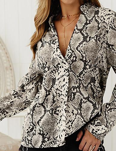 billige Topper til damer-Skjorte Dame - Dyr Brun US6