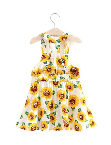 שמלה מעל הברך ללא שרוולים פרחוני בנות ילדים