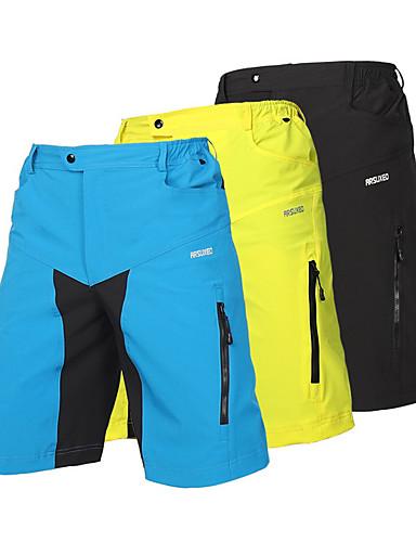זול שורטים, מכנסיים, טייצים לרכיבת אופניים-Arsuxeo בגדי ריקוד גברים מכנסי רכיבה באגי אופניים מכנסיים קצרים מכנסיים קצרים רחבים מכנסי רכיבה באגי נושם ייבוש מהיר עיצוב אנטומי ספורט פוליאסטר ספנדקס שחור / צהוב בהיר / כחול בהיר / סטרצ'י (נמתח)