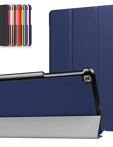 Кейс для Назначение LG LG G Pad 4 8.0 P530 Защита от удара / со стендом / Ультратонкий Чехол Однотонный Твердый Кожа PU