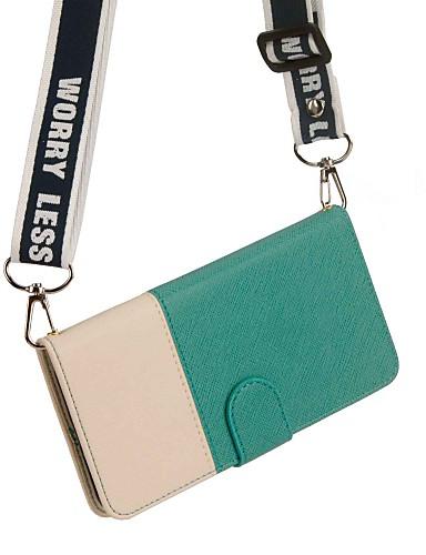 Кейс для Назначение OnePlus Один плюс 7 / One Plus 7 Pro Кошелек / Бумажник для карт / со стендом Чехол Геометрический рисунок Твердый Кожа PU