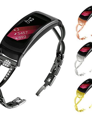 צפו בנד ל Gear Fit Pro Samsung Galaxy פרפר באקל מתכת אל חלד רצועת יד לספורט