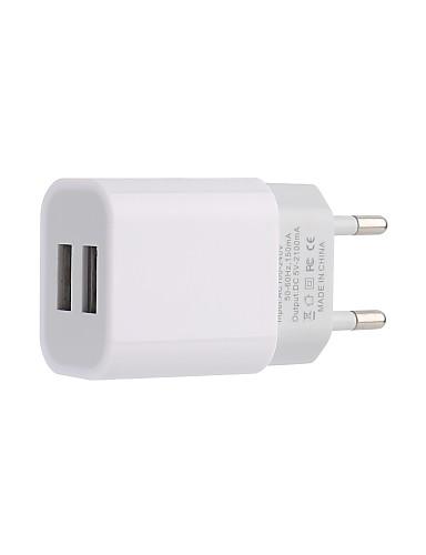 eu תקע רב פלט 2 יציאות USB 2.4a dc5v / 100-240v מהיר מהיר USB תשלום תמיכה טלפון / שולחן והתקנים אחרים