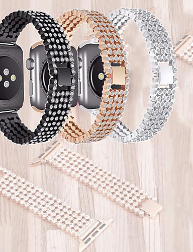 צפו בנד ל סדרת Apple Watch 5/4/3/2/1 Apple עיצוב תכשיטים מתכת אל חלד רצועת יד לספורט