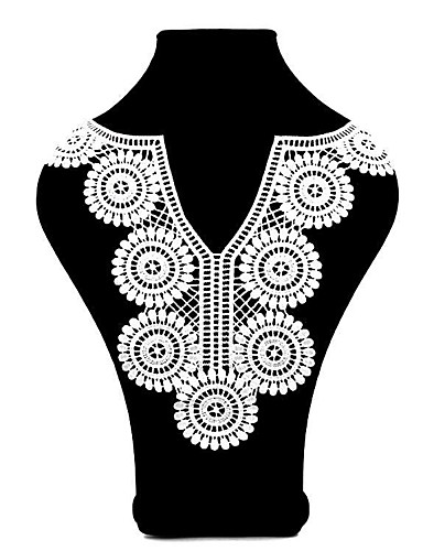 povoljno Wedding Dress Fabric-Čipka Jednobojni Vez 37 cm širina tkanina za Vjenčan prodan od Broj komada
